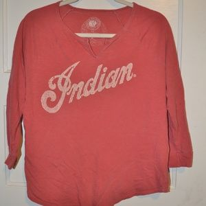Lucky Brand Indian Motorcycle Vintage Style Tee